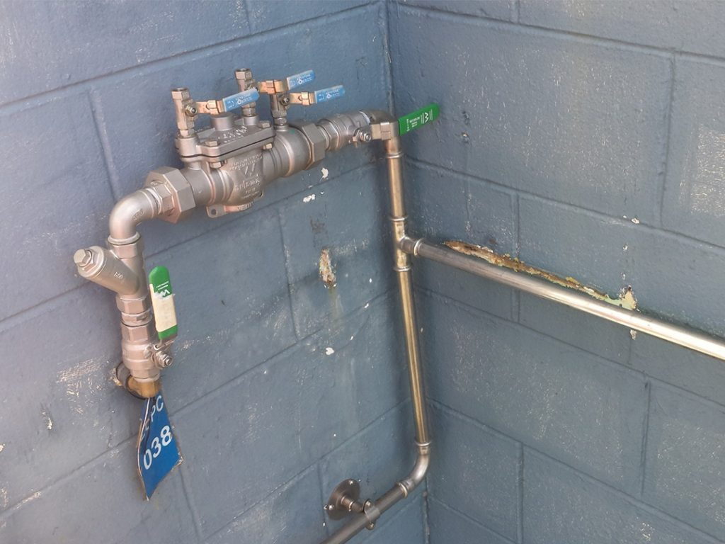 Backflow protection of potable water